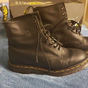 Vintage 1460 Dr. Marten Black Greasy 8 Eye Boot